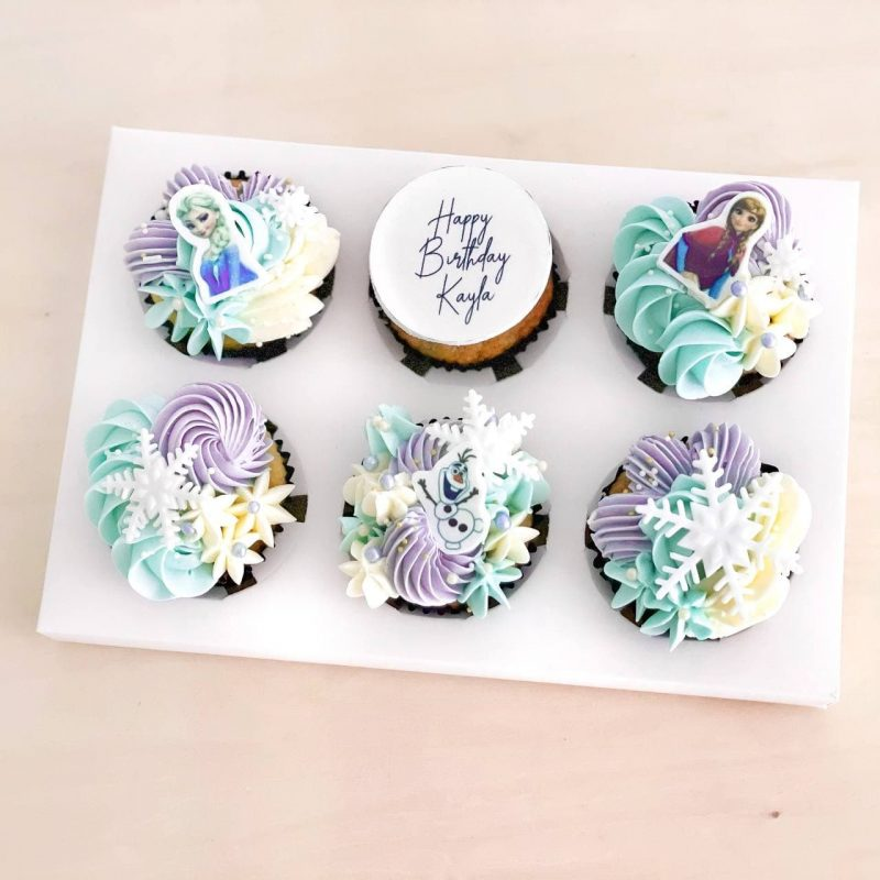 Customised-cupcakes-singapore-free-delivery-frozen-cupcakes