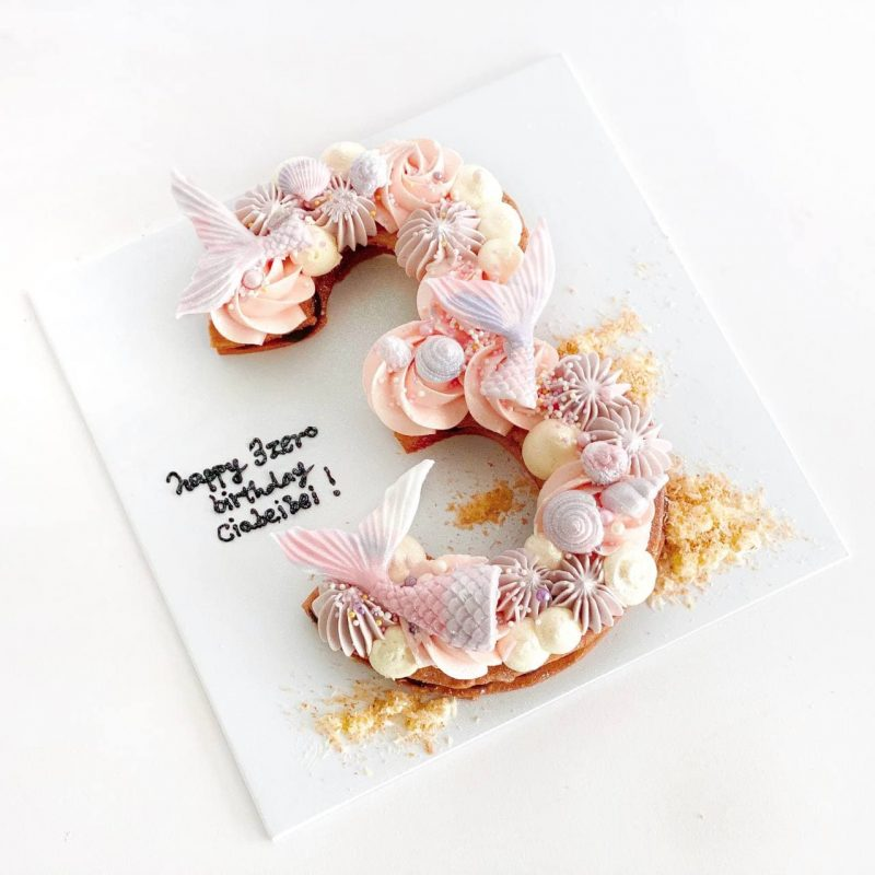 Customised-cakes-singapore-free-delivery-numeric-mermaid-cakes
