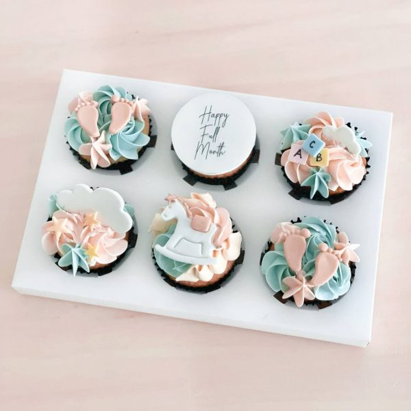 Customised-cupcakes-singapore-free-delivery-cakes-gender-reveal
